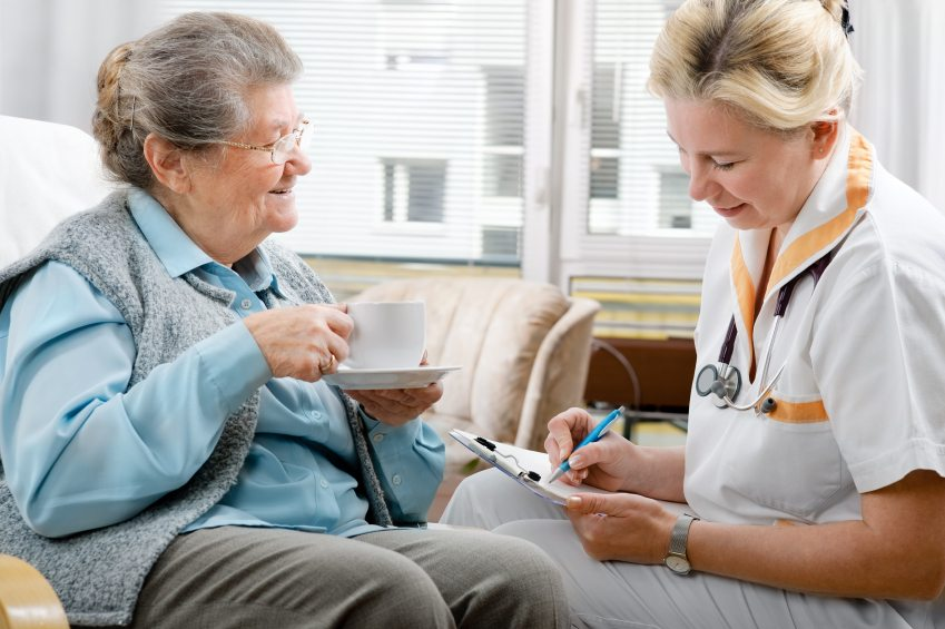 Home Care Nurse with Senior